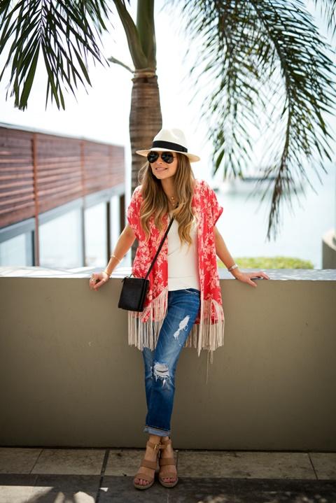 cherveno lqtno kimono