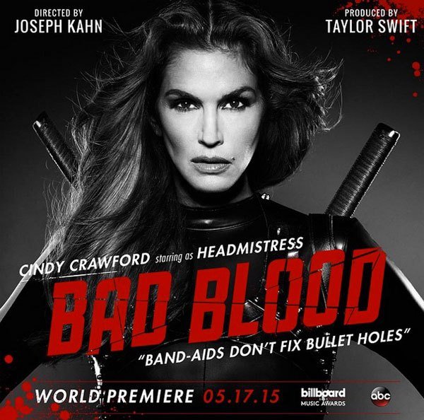 cindy-crawford taylor swift bad blood video