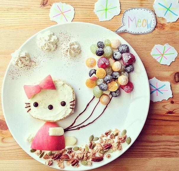 deca hrana plodove kote creativna