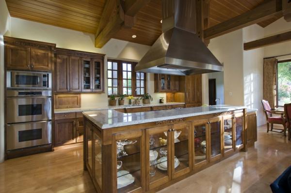 луксозен дизайн кухня идеи с дърво