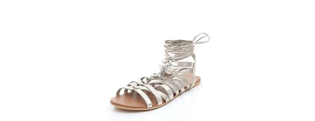 ejednevni srebristi sandali-gladiatorski
