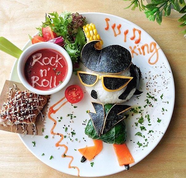 elvis hrana dekoraciq kreativna