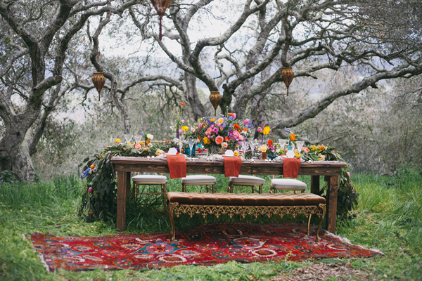gradina svatba dekoraciq masa peika