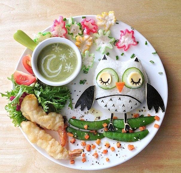 hrana dekoraciq deca buhal kreativna