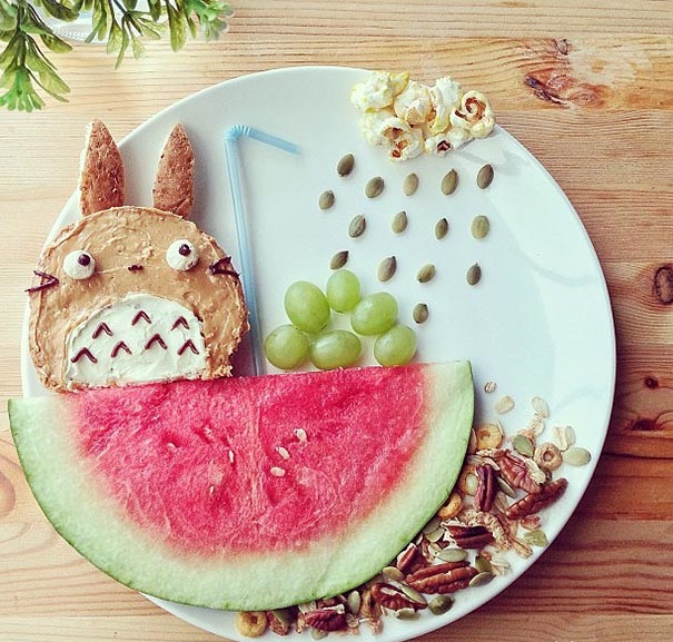 hrana plodove qdki deca kreativna ideq