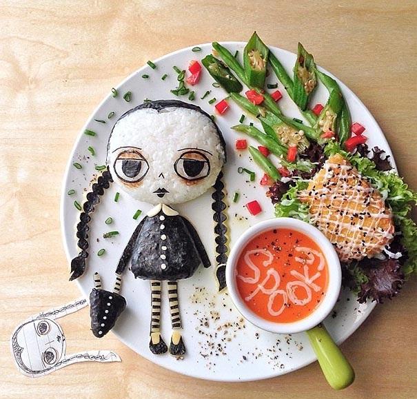 hrana zelenchuci deca kreativna dekoraciq