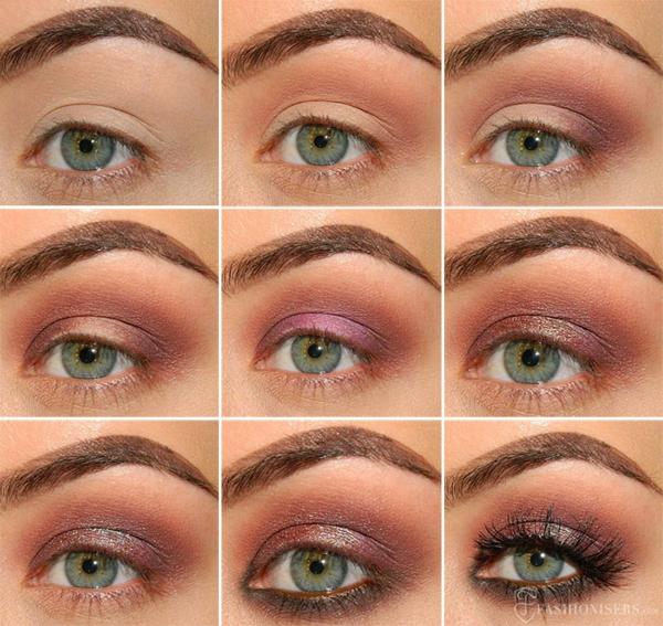 идея за грим металически сенки върху очите