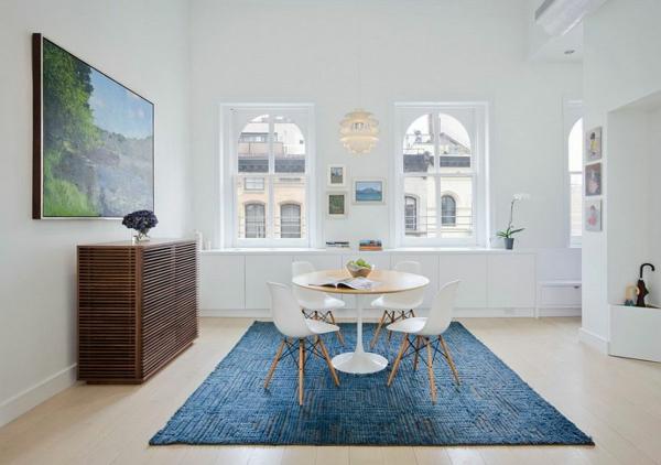 interioren dizain skandinavski stil sinio bqlo