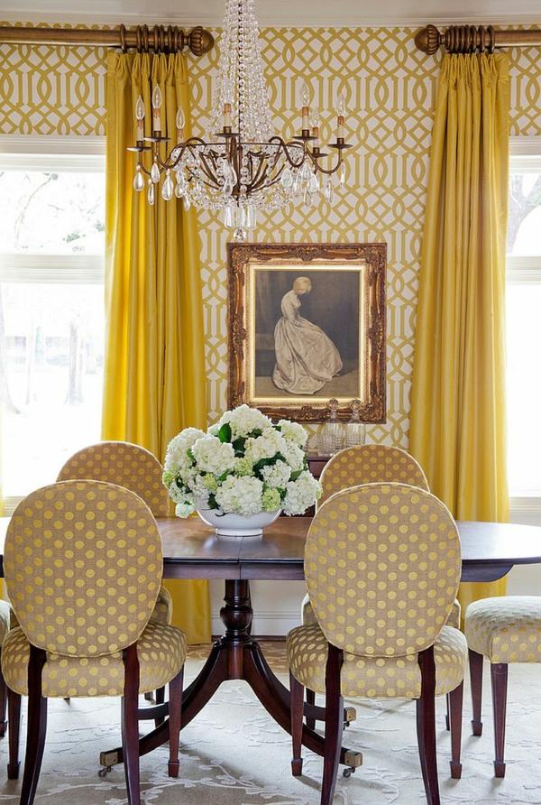 interioren dizain trapezariq tapeti jalto zavesi polilei mebeli