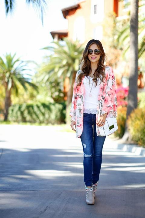 kimono print rozi