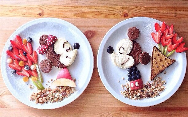 kreativna hrana dekoraciq miki mini maus
