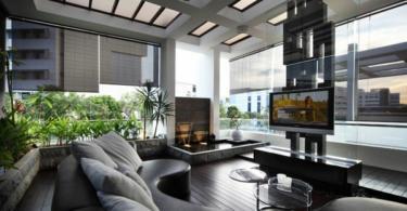 tendencii interior dom hol fontan dizain