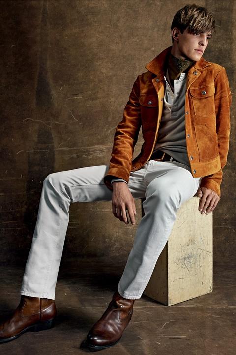 majko qke oranjevo beli pantaloni