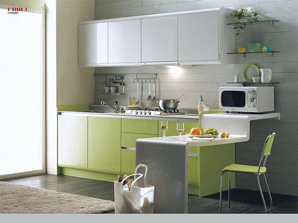 malka kuhnq idei obzavejdane interior zeleno bqlo