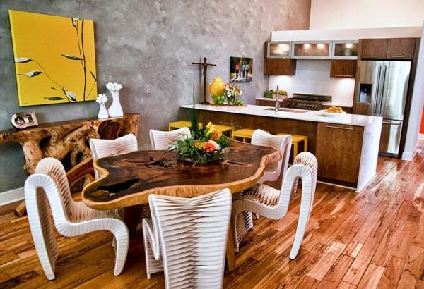Модерни идеи за интериор на кухня в жълто и сиво
