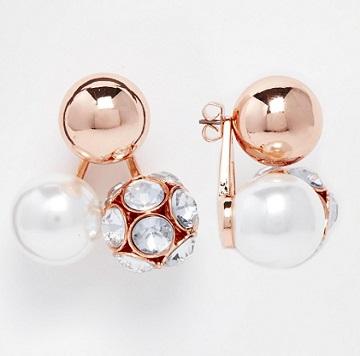 obici rozovo zlato s perli i kamuni