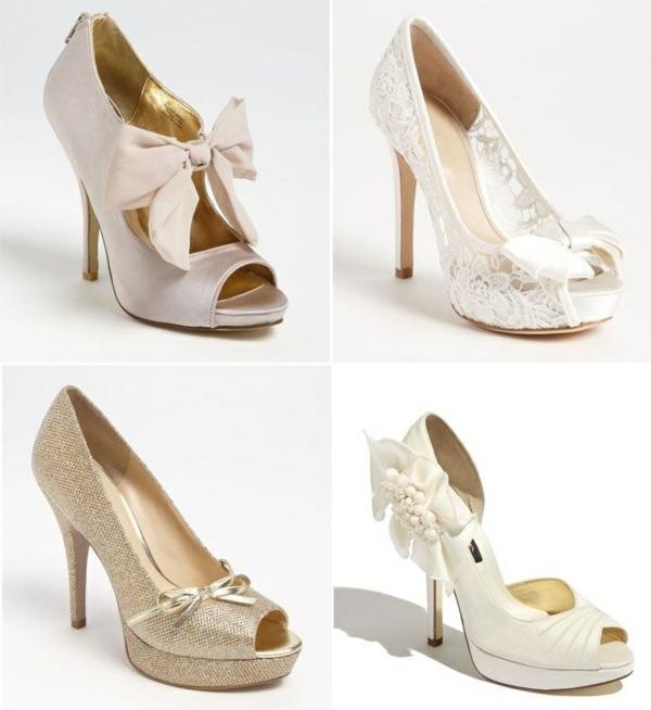 сватени обувки с панделки