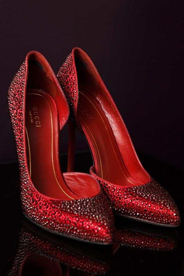 obuvki visok tok cherveni elegantni