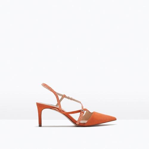 oranjevi sandali s visok tok