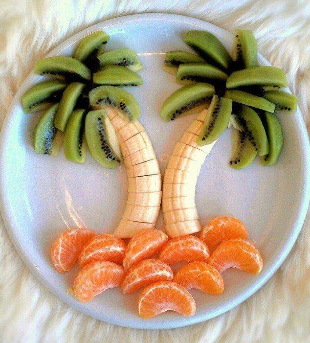 plodove hrana deca dekoraciq palma