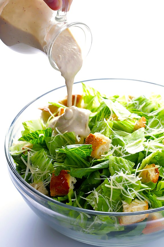 recepta salata cesar zelenchuci dresing