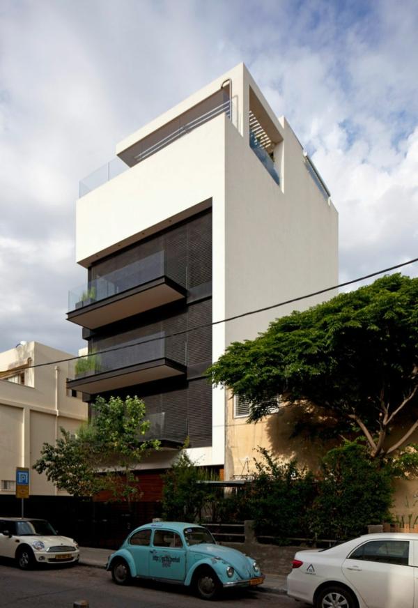 rezidenciq fasada savremenen stil eksterior bqlo kafqvo terasa