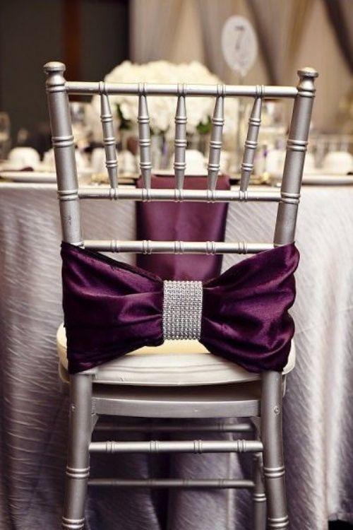 сватбена декорация на стол с панделки