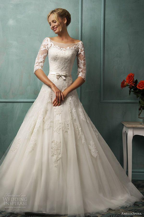 сватбена рокля с панделка отпред