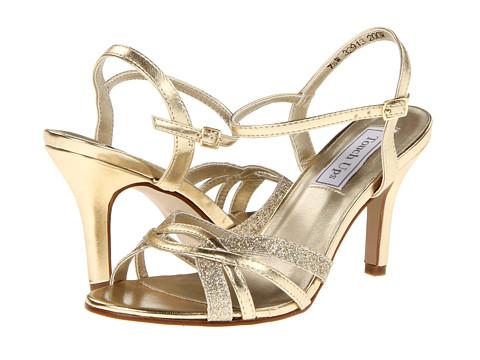 svatbeni obuvki zlatisto sandali