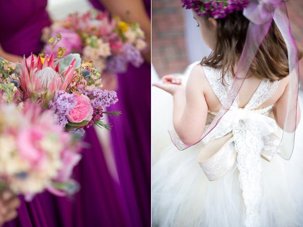 Идея за сватба в лилаво и розово