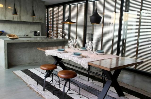 tendencii interior trapezariq industrialen stil