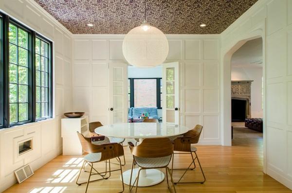 trapezariq dizain tapeti interior tavan osvetlenie
