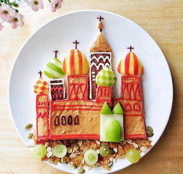 zamak hrana kreativna dekoraciq