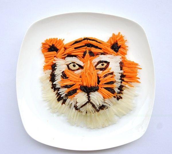 zelenchuci tigar hrana dekoraciq kreativna
