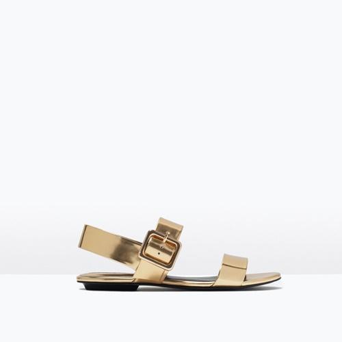 Златисти ниски сандали