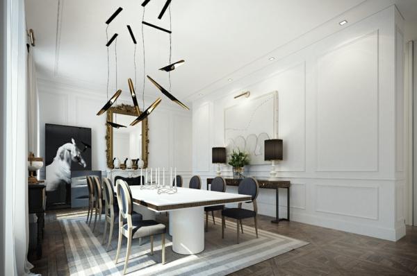 интериорен-дизайн-в-бяло-и-черно-трапезария-идеи