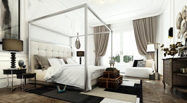 интериорен-дизайн-в-бяло-и-черно-спалня-бяло-идеи