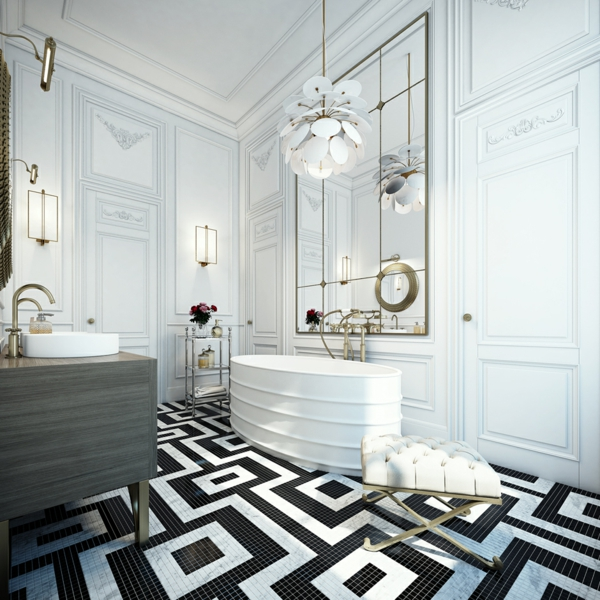 интериорен-дизайн-в-бяло-и-черно-баня-вана-идеи