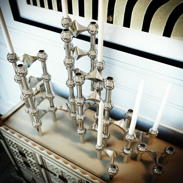 интериорен дизайн бяло и черно декорация метал идеи