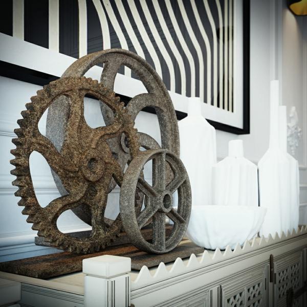 интериорен дизайн бяло и черно украса декорация идеи