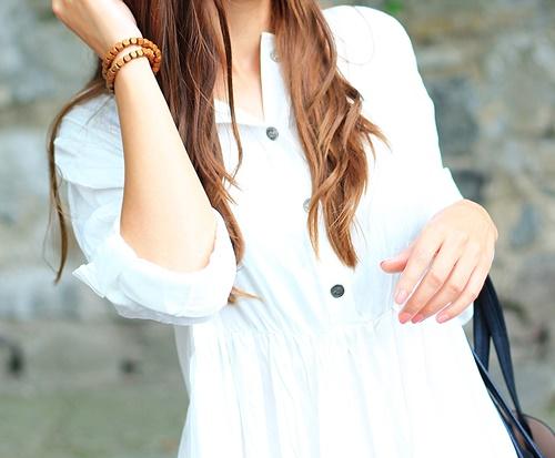 бяла бохо рокля лора empurple