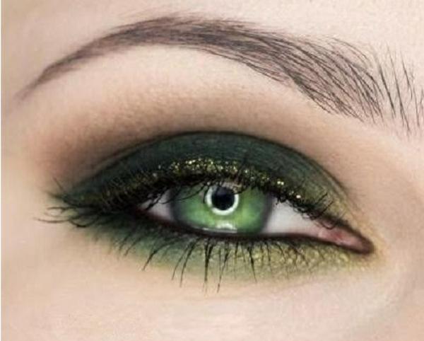 грим за зелени очи идеи зелено