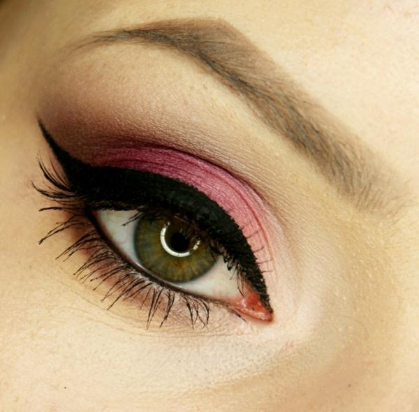 грим зелени очи идеи розово