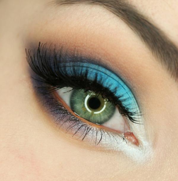 грим зелени очи идеи в синьо