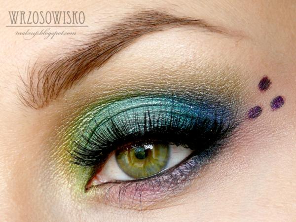 цветен грим  зелени очи идеи
