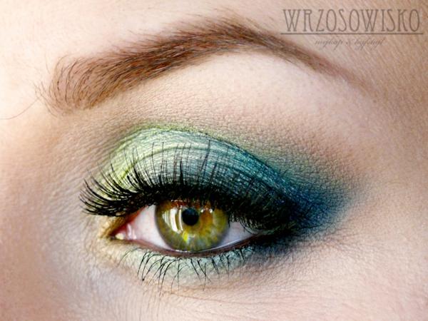 грим зелени очи идеи синьо