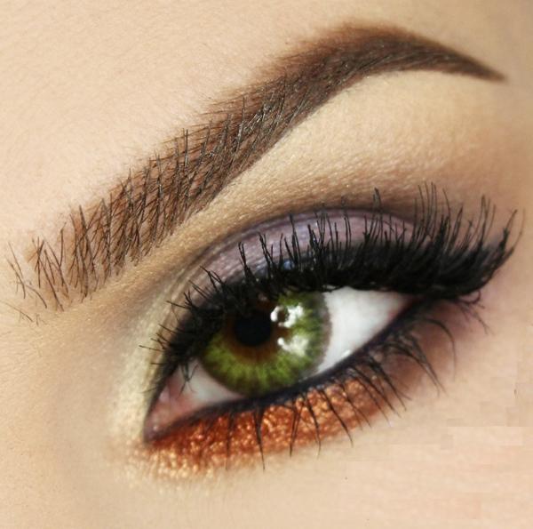 грим за зелени очи идеи