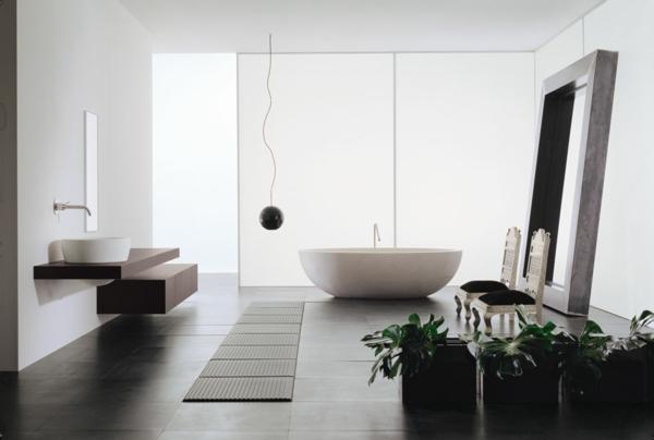 декор модерна баня интериор бяло