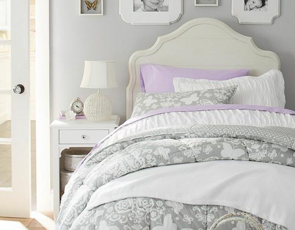 детска стая момичета бяло дизайн легло идеи