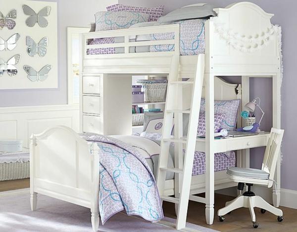 детска стая момичета обзавеждане бяло лилаво